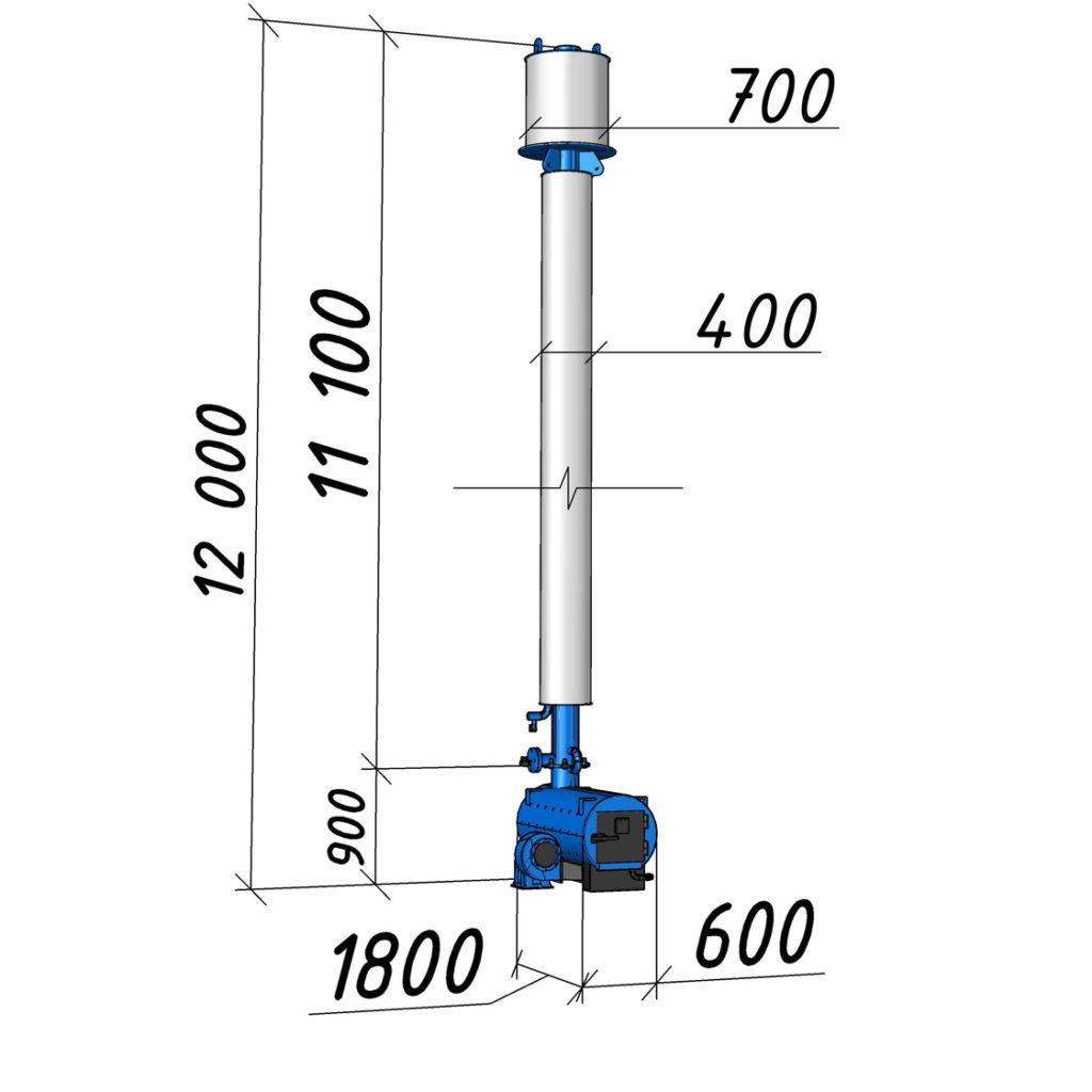 Водогрейный котел КВСрд-0,1 мощностью 100 кВт