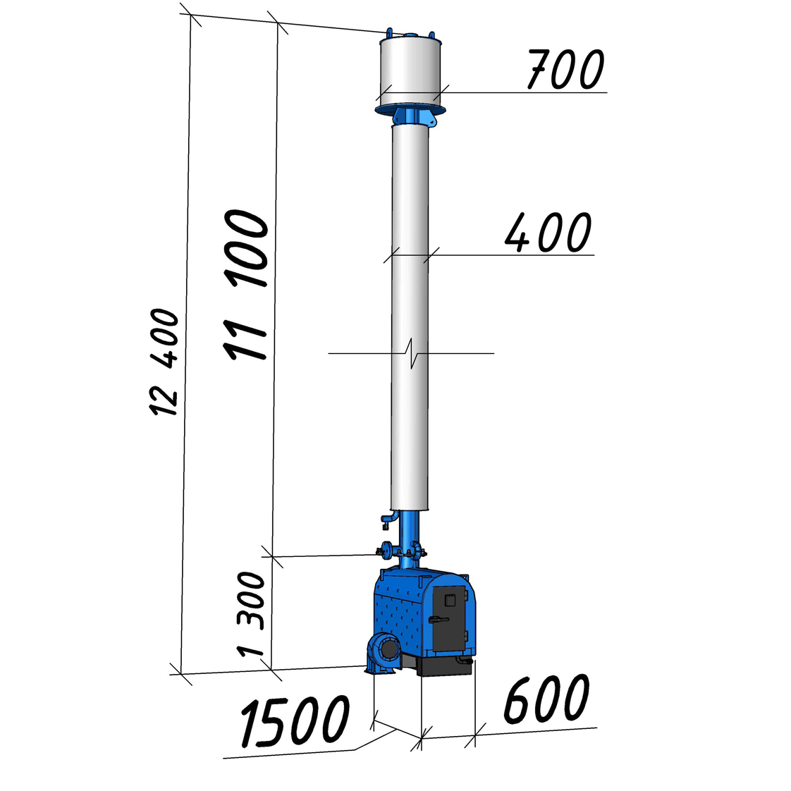 Водогрейный котел КВСрд-0,11 мощностью 110 кВт