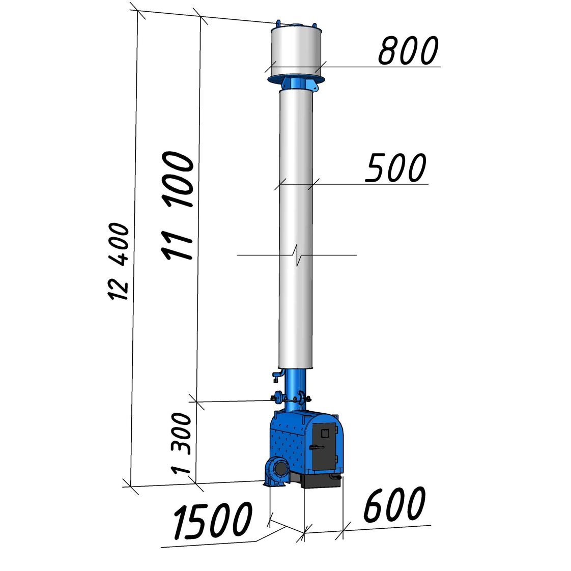 Водогрейный котел КВСрд-0,15 мощностью 150 кВт