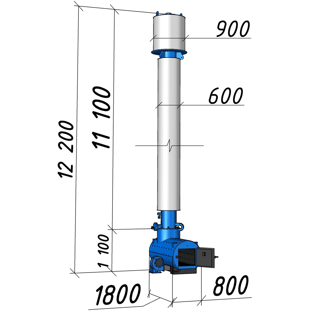 Водогрейный котел КВСрд-0,2 мощностью 200 кВт