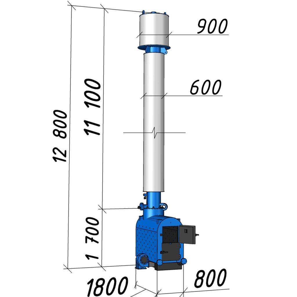 Водогрейный котел КВСрд-0,22 мощностью 220 кВт