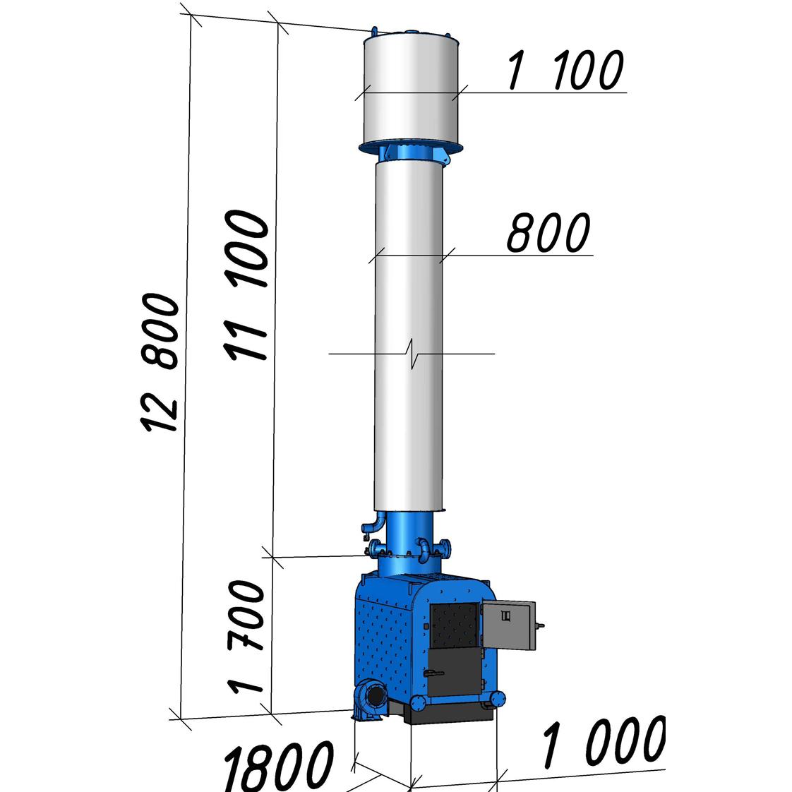 Водогрейный котел КВСрд-0,5 мощностью 500 кВт