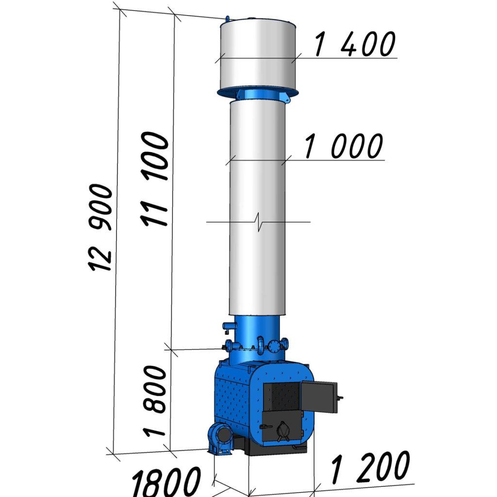 Водогрейный котел КВСрд-0,8 мощностью 800 кВт