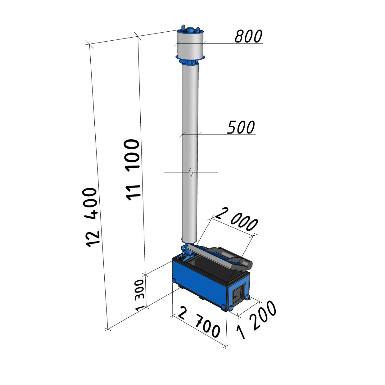 Котел длительного горения АБК-0,15 мощностью 150 кВт