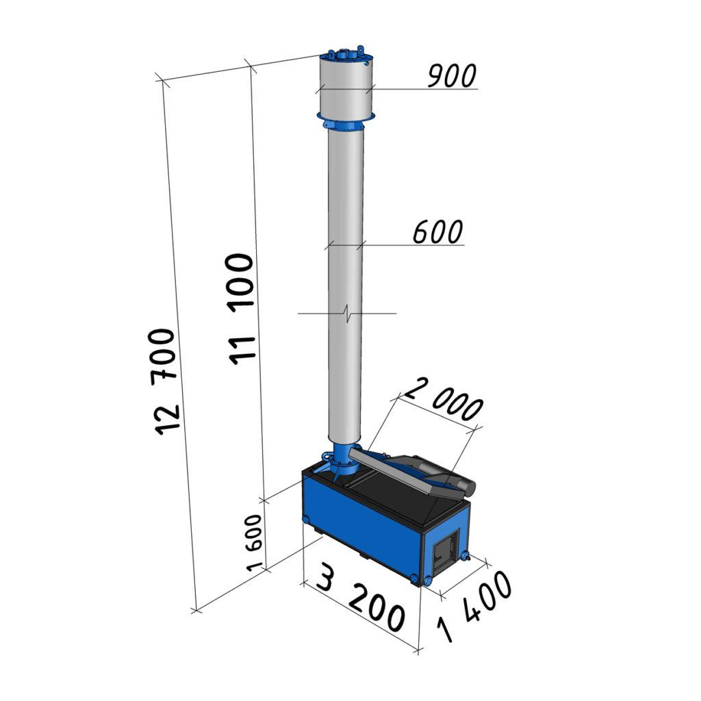 Котел длительного горения АБК-0,2 мощностью 200 кВт
