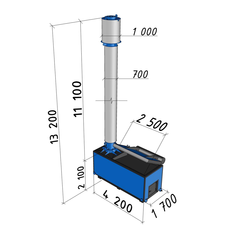 Котел длительного горения АБК-0,3 мощностью 300 кВт