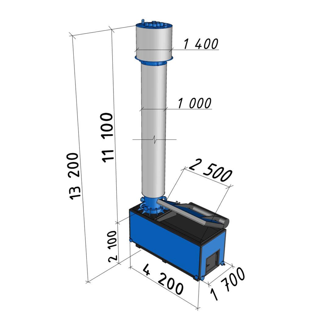 Котел длительного горения АБК-0,8 мощностью 800 кВт