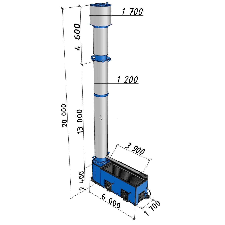 Котел длительного горения КВС-1,6 мощностью 1600 кВт
