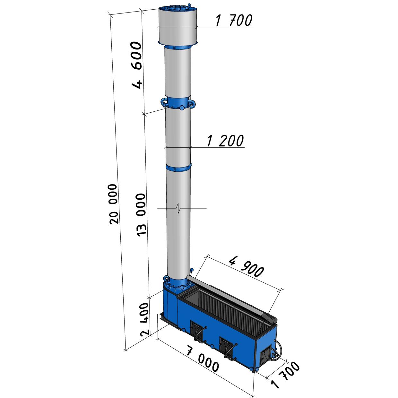 Котел длительного горения КВС-2,0 мощностью 2000 кВт