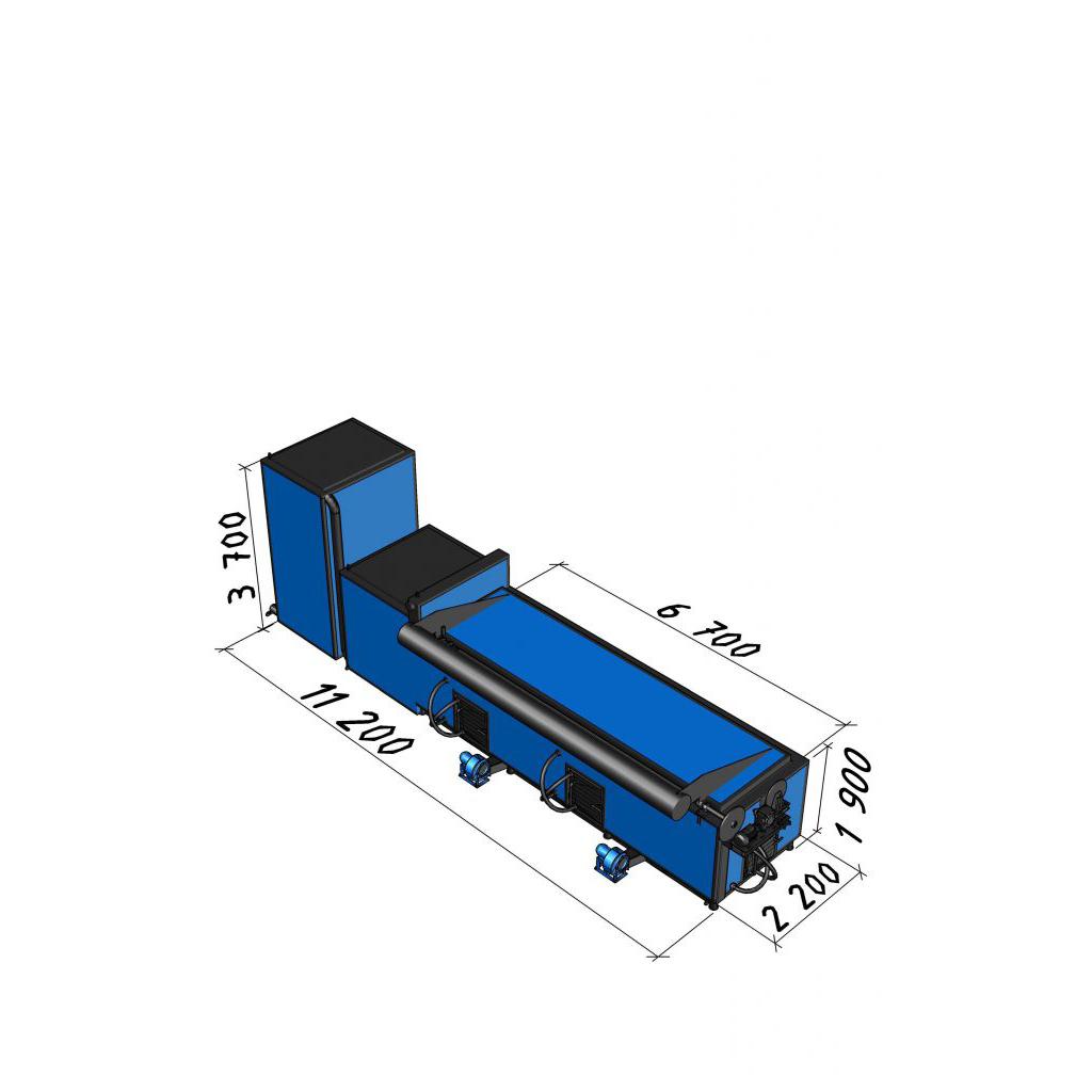 Котел длительного горения КВС-3,0 мощностью 3000 кВт